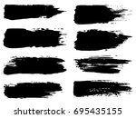 collection of artistic grungy... | Shutterstock . vector #695435155