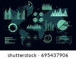 world analytics infographic.... | Shutterstock .eps vector #695437906