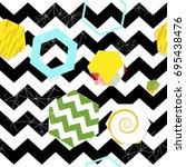 abstract modern seamless... | Shutterstock .eps vector #695438476