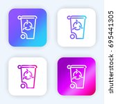 recycle bin bright purple and...
