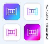 crib bright purple and blue...