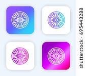 wheel bright purple and blue...