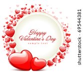 hearts with card frame... | Shutterstock .eps vector #69544381