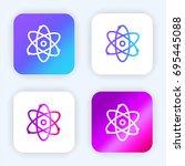 atom bright purple and blue...