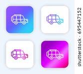 jeep bright purple and blue...