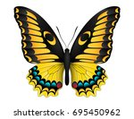 beautiful butterfly isolated on ... | Shutterstock .eps vector #695450962