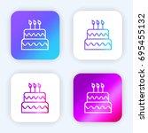 cake bright purple and blue...