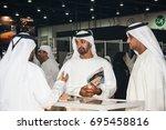 sheikh mohammed bin zayed...   Shutterstock . vector #695458816