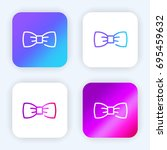bow tie bright purple and blue...
