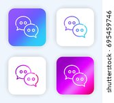wechat bright purple and blue...