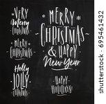 chrictmas lettering graphic a... | Shutterstock .eps vector #695461432