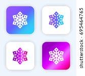 snowflake bright purple and...