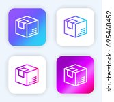 box bright purple and blue...
