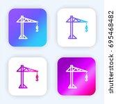 crane bright purple and blue...