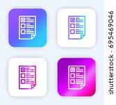 list bright purple and blue...