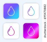 raindrop bright purple and blue ...