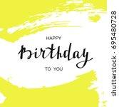 happy birthday card. vector...   Shutterstock .eps vector #695480728