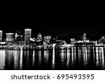 baltimore inner harbor | Shutterstock . vector #695493595