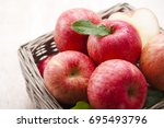 apple   Shutterstock . vector #695493796