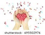 isolated on white background of ... | Shutterstock . vector #695502976
