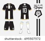soccer jersey or football kit... | Shutterstock .eps vector #695507572