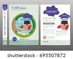 covers book design template... | Shutterstock .eps vector #695507872