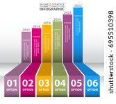 business infographics  strategy ... | Shutterstock .eps vector #695510398