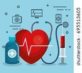 blood donation design | Shutterstock .eps vector #695513605