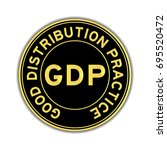 black and gold color of gdp ... | Shutterstock .eps vector #695520472