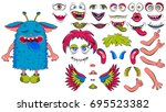 creating a monster from a set... | Shutterstock .eps vector #695523382