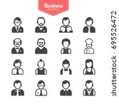 business people avatars | Shutterstock .eps vector #695526472