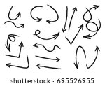 set of hand drawn arrows for... | Shutterstock .eps vector #695526955
