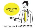 vector illustration character... | Shutterstock .eps vector #695528722