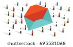 send email newsletter to the... | Shutterstock .eps vector #695531068