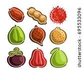 vector set icons of colorful... | Shutterstock .eps vector #695533096