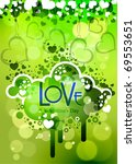 valentine love background ... | Shutterstock .eps vector #69553651