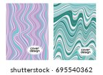 cover layouts collection with... | Shutterstock .eps vector #695540362