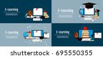 education infographic concepts. ... | Shutterstock .eps vector #695550355