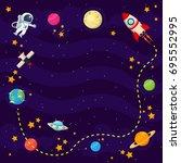 modern copyspace banner... | Shutterstock .eps vector #695552995