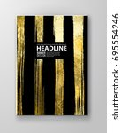 vector black and gold design... | Shutterstock .eps vector #695554246