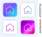 simple house thin bright purple ...