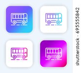 bus bright purple and blue...