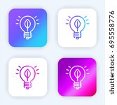 light bulb bright purple and...