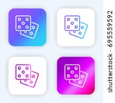 dices bright purple and blue...