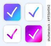 draw check mark bright purple...