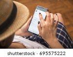 izmir  turkey   june 27  2017 ... | Shutterstock . vector #695575222