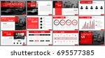design element of infographics... | Shutterstock .eps vector #695577385