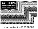 tribal  ethnic vector pattern... | Shutterstock .eps vector #695578882