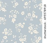 seamless floral pattern in folk ... | Shutterstock .eps vector #695578918