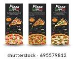 pizza pizzeria flyer vector... | Shutterstock .eps vector #695579812
